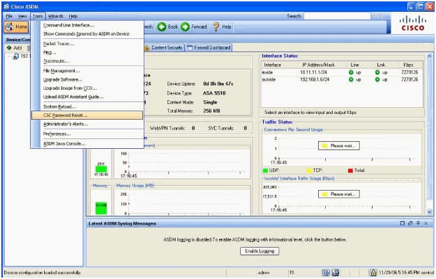 Performing Password Recovery for the ASA 5500 Series Adaptive