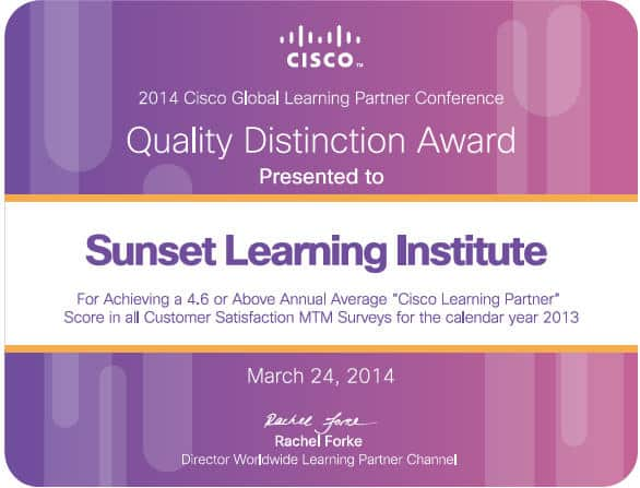 2014 Quality Distinction Award