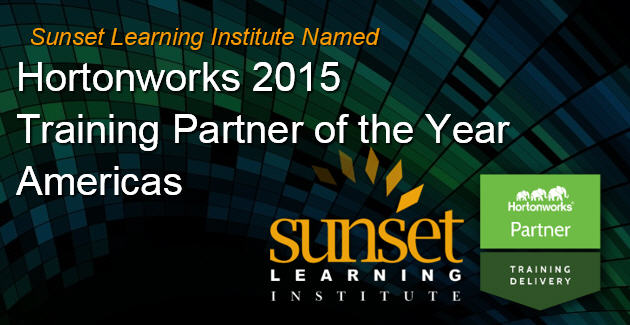 Hortonworks Training Partner of the Year Americas 2015